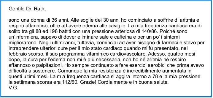 Testimonianza su rinforzare il cuore - regolazione aritmia