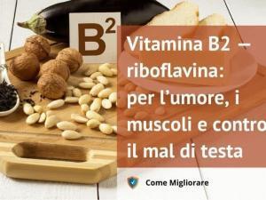 Vitamina B2 — riboflavina: per l'umore, i muscoli e contro il mal di testa